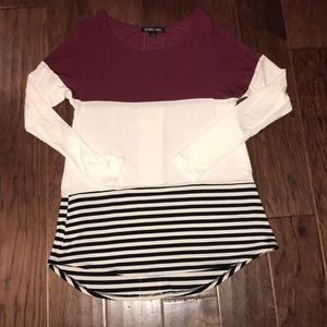Color block LS top
